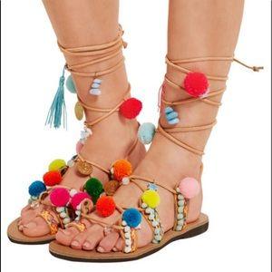 💕 Mabu Gladiator Pom Pom Sandals 💕